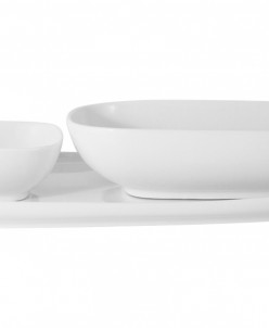 Набор Форма белый: тарелка + 2 салатника в подар.упаковке