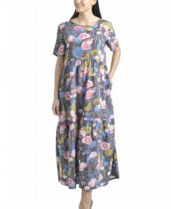 Платье Афелия (3484). Расцветка: розовые цветы