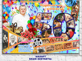 Плакат с фото на День Рождения