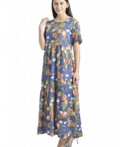 Платье Афелия (3484). Расцветка: бежевые цветы