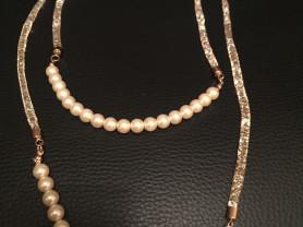 Ожерелье Жемчуг и кристаллы Swarovski новое
