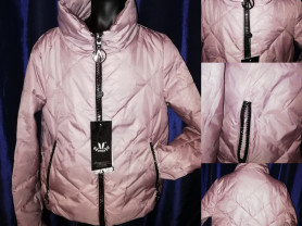 Куртка стильная цвет глянцевая пудра