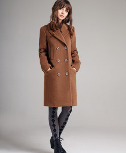 Р1157-A пальто  Цвет: кэмел