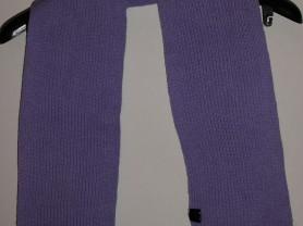 Шарф фиолетовый теплый акрил 114х15 см