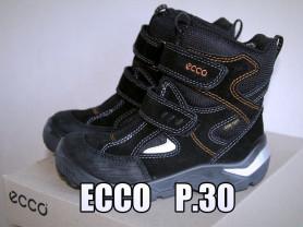 Новые мембранные зимние Ecco р.30 (стелька 19,8)