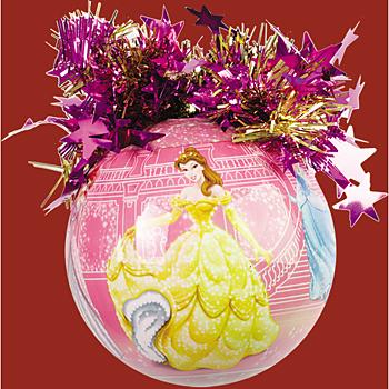 """Шар """"Уолт Дисней"""" (Принцессы на фоне замка), диаметр 85 мм,"""