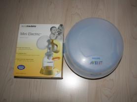 Молокоотсос Medela mini electric, стерилизатор