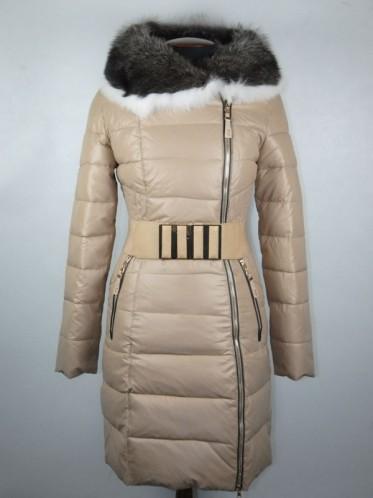 Пальто женское зимнее (холлофайбер, нат. мех лисицы)