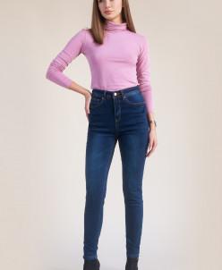 Базовые джинсы слим-фит с высокой посадкой