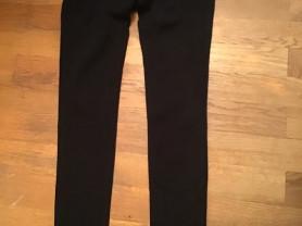 Чёрные плотные трикотажные брюки Paige