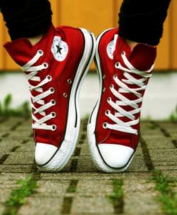 Бордовые высокие Converse AllStars!