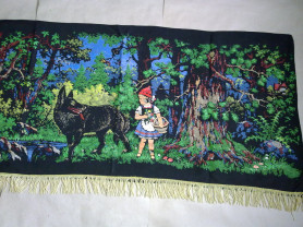 Ковер Красная шапочка,СССР старый советский коврик