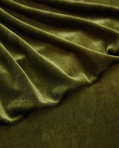 Бархат темно-оливкового цвета
