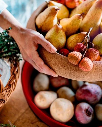 Емкость д/хранения овощей и фруктов, цвет гранат