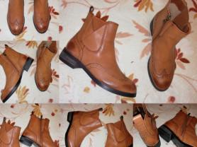 Ботинки р. 36 кожа Коричневые
