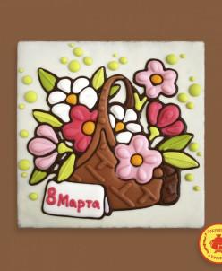 "Тортик Корзина с цветами ""8 Марта"" 700 грамм"