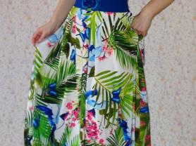 Новое длинное платье -рубашка Forsara Турция 44