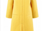 Пальто из фактурной ткани на крючках Цвет жёлтый к