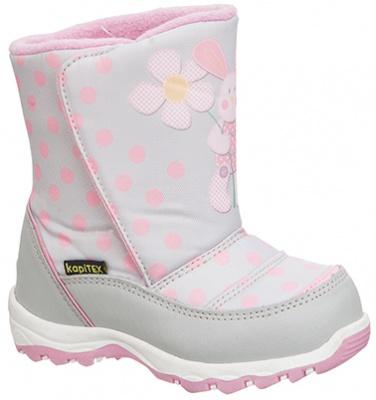 Сапоги Капика 41105-2 серый-розовый