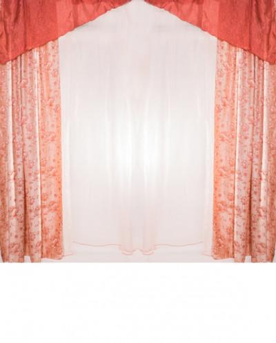 Комплект шторы + тюль 300*260