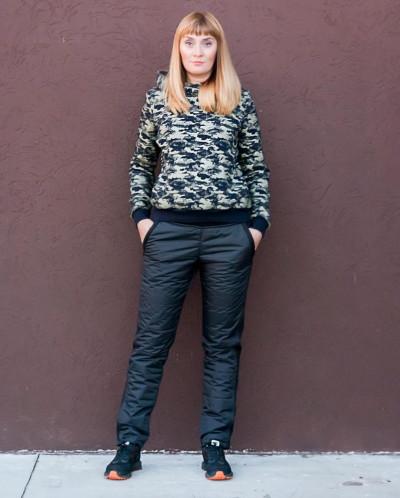 Мембранные женские брюки Альба. Цвет черный.