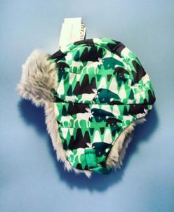 Теплая зимняя шапка-ушанка Reike цвет Green