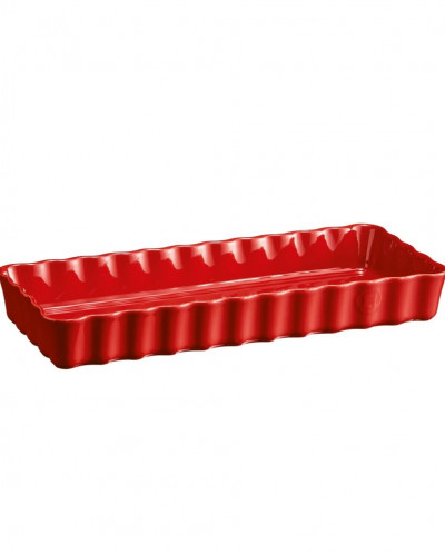 Форма для пирога прямоугольная, 15х36 см, (цвет: гранат)