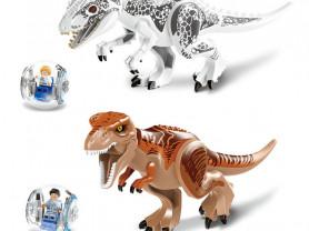 Динозавры Лего. 2 динозавра+2 кабинки с фигурками.