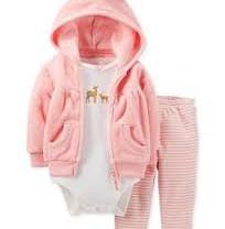 Новый комплект из 3 предметов carters 24м розовый