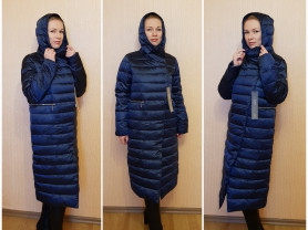 Новое зимнее теплое пальто пуховик 44 46 48 50 52