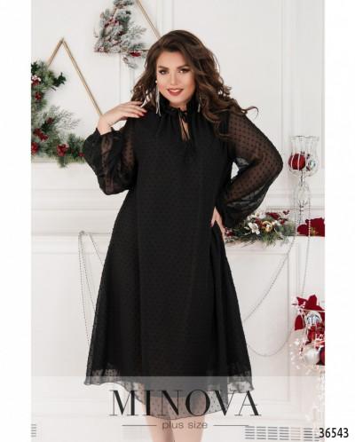 Платье №739-Черный