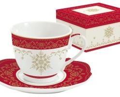 Чашка с блюдцем HERMITAGE в подарочной упаковке