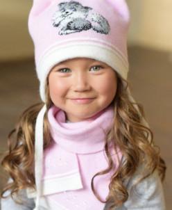 МАРГОША комплект (шапка, шарф, варежки двуслойные)