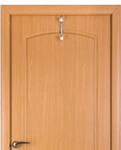 """Вешалка на дверь навесная 2 крючка 10,3*2,5*19,7 см """"Белая"""""""