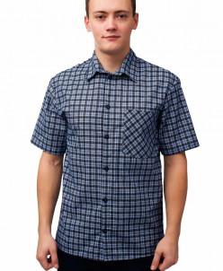Мужская рубашка БЯЗЬ короткий рукав, 1 карман