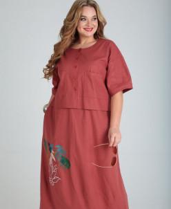 платье Andrea Style Артикул: 00254 терракот