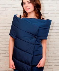 Женский жилет одеяло, укороченный