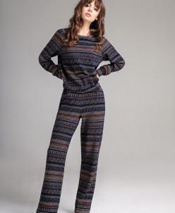 Р1164 костюм (брюки, джемпер)      Цвет: синий+ цветно