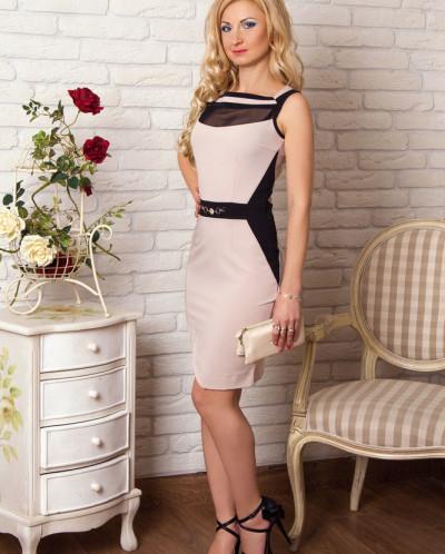 Платье № 856-беж