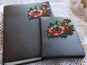 комплект блокнот и обложка на паспорт