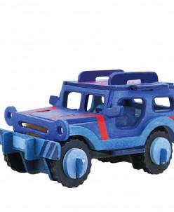 Джип раскраска - 3Д пазл-раскраска
