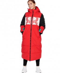 Пальто женское, сезон 2019-2020, арт. B-8813, Красный