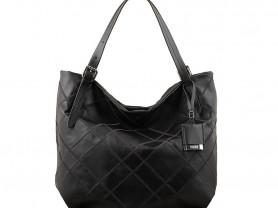 Новая большая черная кожаная сумка Италия