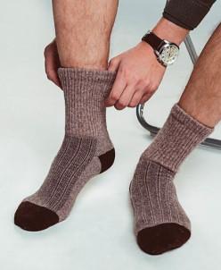 Носки из шерсти яка.