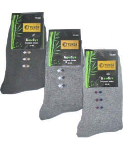 Мужские носки тёплые Yunda 887 бамбук
