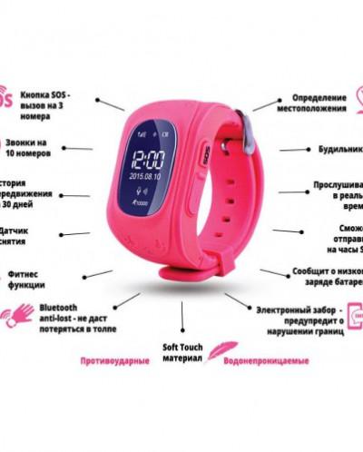 Детские часы GPS трекер Smart Baby Watch Q50, зеленые