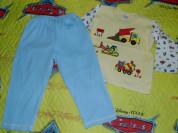 Пижама р.92-98 (можно до 104 роста) хлопок без пят
