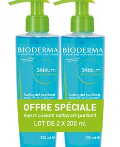 Bioderma Sébium Purifying Foaming Gel 2 x 200ml