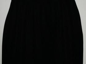 Юбка черная прямая длина 48 см ОТ 88 см, ОБ 118 см