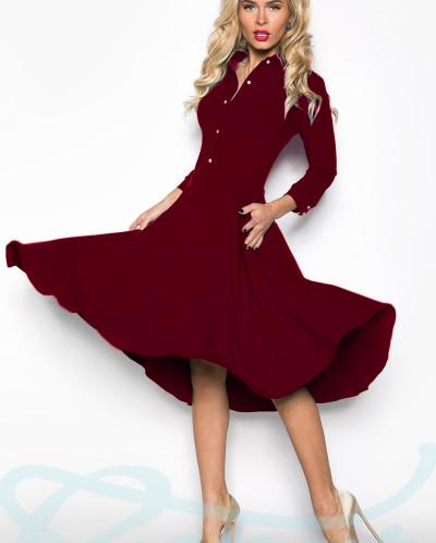 Женственное платье клеш